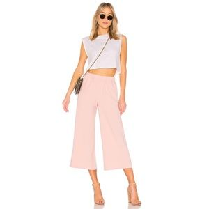 ASOS 🌸 Dr. Denim Cropped Wide Leg Trousers Pink